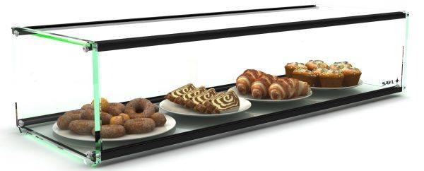 Sayl Food Display Cabinet Ambient Countertop 1 Tier 920mm
