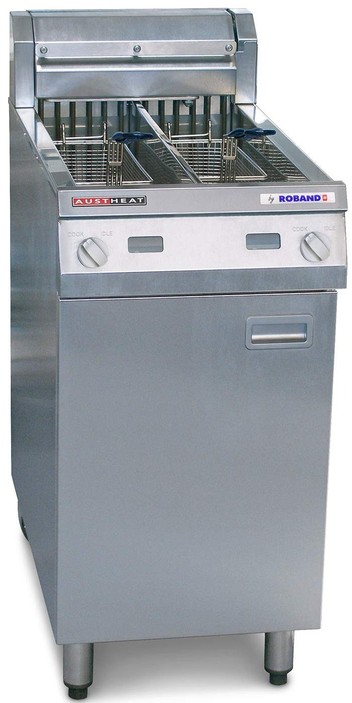 Austheat Electric Deep Fryer Twin Pan 2 X 14ltr